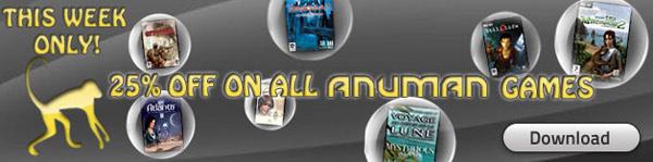 Anuman week and RPG week-end on Gamesplanet
