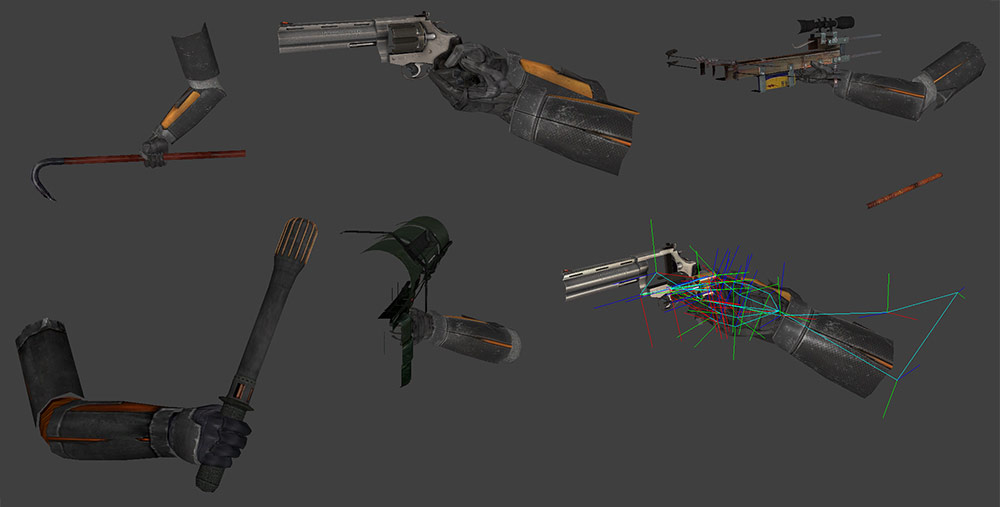 今日はハンドと武器を作りますよーやるやるヌッ